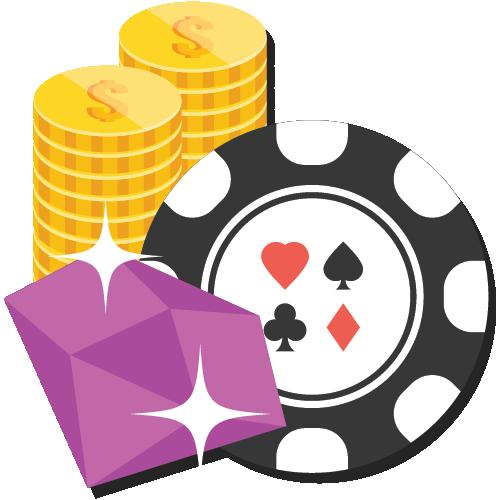 Casino chips og mynter